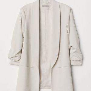 H&M Blazer Jacket with Gathered Sleeves